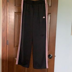 VGUC Adidas pants pink and black size L
